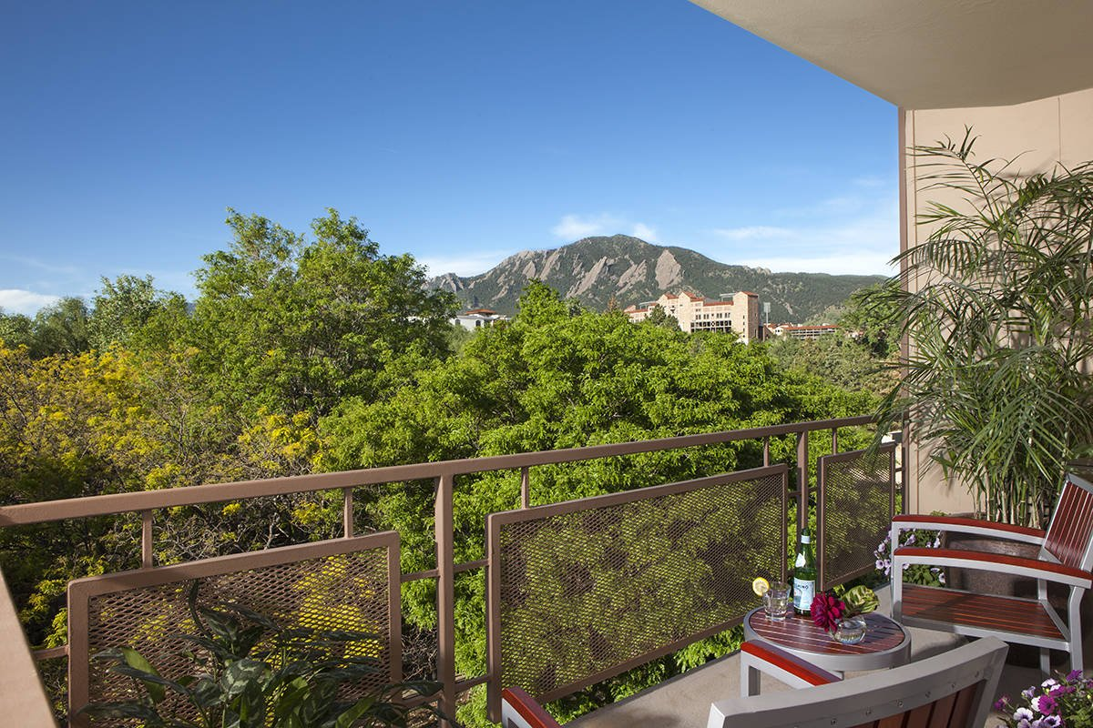 Boulder hotel motel association balcony seating with for Balcony with view